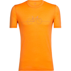 Icebreaker Tech Lite Cadence - T-shirt manches courtes Homme - orange